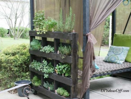 Separator pentru gradina cu plante