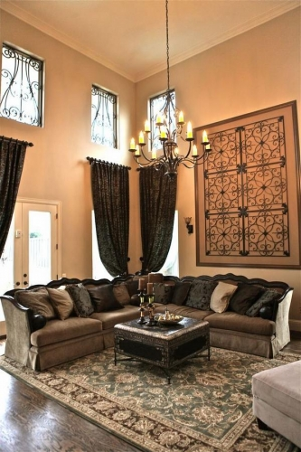 Decoratiune perete fier forjat living room