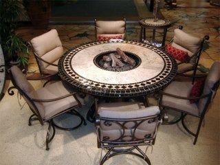 Masa rotunda scaune fier forjat