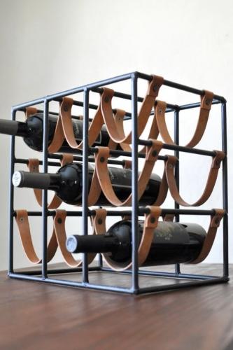 Suport sticla vin fier forjat