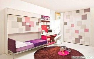 Dormitor mic cu design minimalist