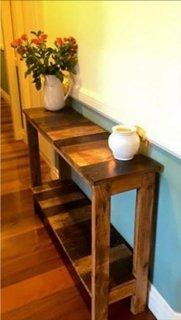 Consola hol din paleti din lemn
