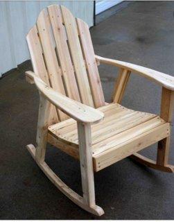 Scaun balansoar din paleti din lemn