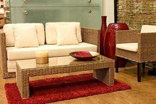 Design interior exotic mobila rattan canapea
