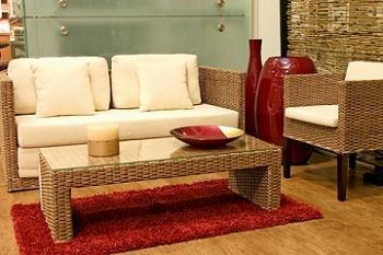 Design interior exotic cu mobila de rattan