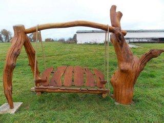 Leagan rustic din lemn