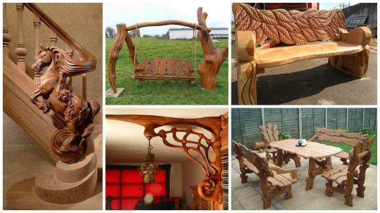 Mobilier rustic din lemn pentru case si gradini incantatoare