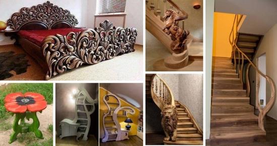 Mobilier si balustrade din lemn executate manual - apreciaza aceste opere de arta