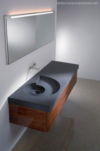 Lavoar de baie din granit model suspendat