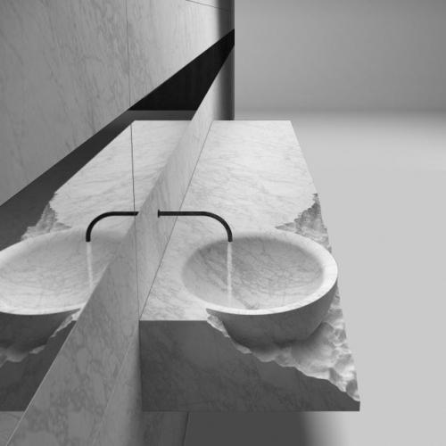 Lavoar marmura model modern
