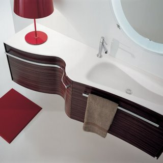 Mobilier elegant suspendat pentru baie