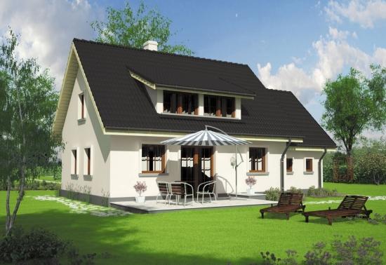 Model de casa cu 4 dormitoare - proiect simplu