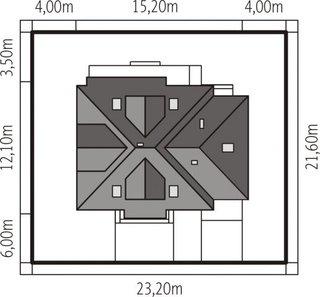 Amprenta constructie casa cu 2 dormitoare