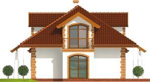 Schita casa cu mansarda si lucarna