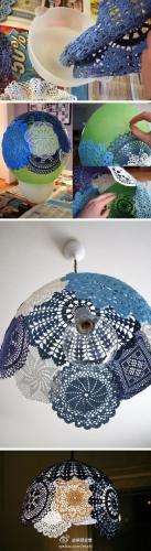 Etape realizare abajur din material textil