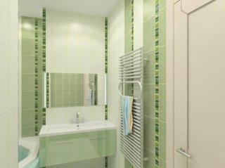 Model de faianta verde pentru baie