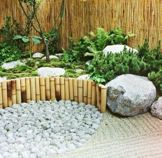Bete de bambus gard despartitor de gradina