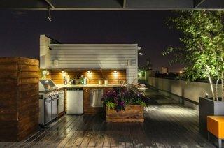 Amenajare contemporana pentru o bucatarie de vara
