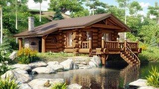 Proiect de cabana din busteni pentru zona de munte