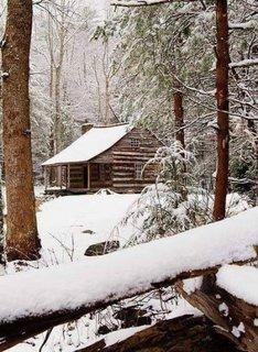 Cabana in mijlocul muntelui