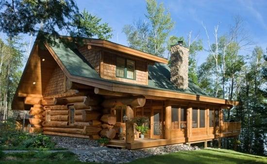 Casa de vacanta din lemn rotund locuinta la munte