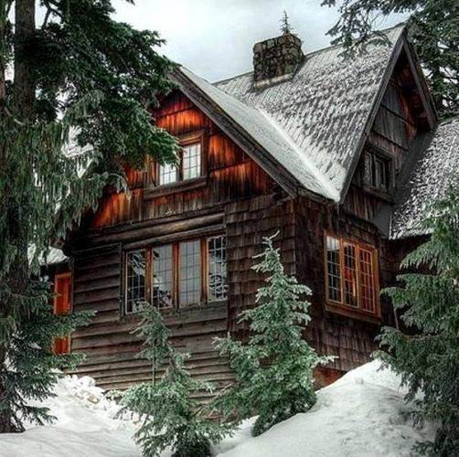 Casa placata cu sindrila din lemn