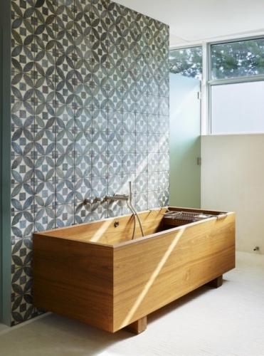 Cada dreptunghiulara cu picioare model modern din lemn de stejar alb