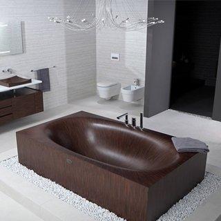 Design modern de cada din lemn de mahon