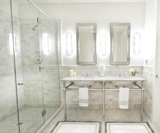 Chiuveta de baie dubla fara masca doar cu cadru metalic