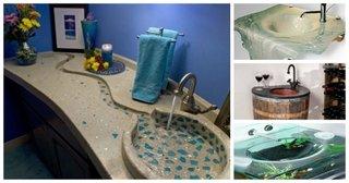Modele originale chiuvete baie