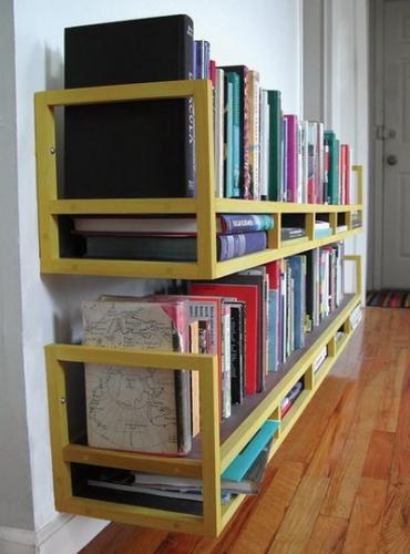 Etajere suspendate pe perete pentru carti si reviste