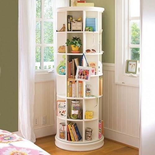 Modele de biblioteci sau idei pentru depozitarea cartilor in diferite camere din casa