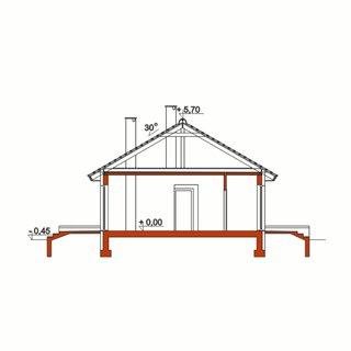 Plan vertical casa cu 3 dormitoare si living