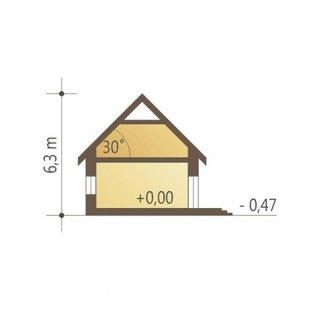 Plan vertical casa cu un singur nivel