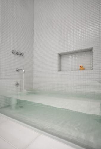 Idee pentru cada cada de baie transparenta