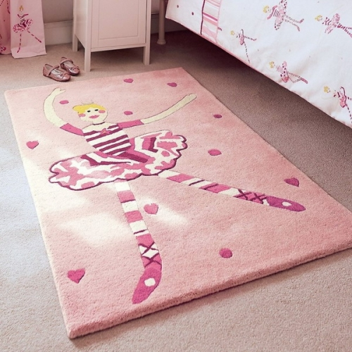 Covor pentru camera de fetita cu balerina