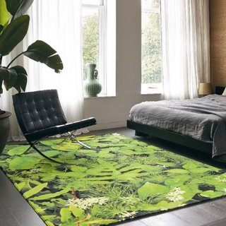 Dormitor cu covor verde superb