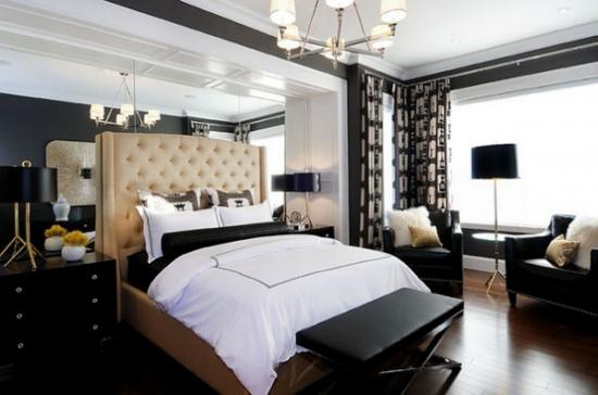 Lustra cu 6 brate cu abajur alb pentru un dormitor mic
