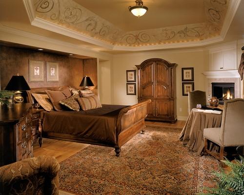 Plafoniera pentru un dormitor amenajat in stil clasic