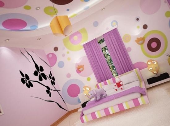 Roz si violet pentru camera copilului