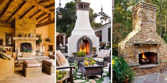 15 modele de seminee de exterior - decoreza-ti terasa cu ajutorul lor