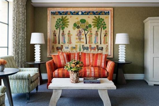 Tablou decorativ tesut manual pentru perete de accent