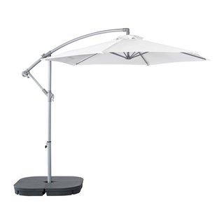 Umbrela Baggon Svarto suspendata cu baza alba de la Ikea