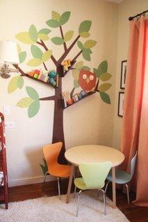 Etajere pe perete cu sticker decorativ