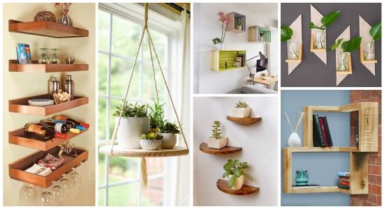 Creati etajere ieftine! 18 idei DIY frumoase si rapide