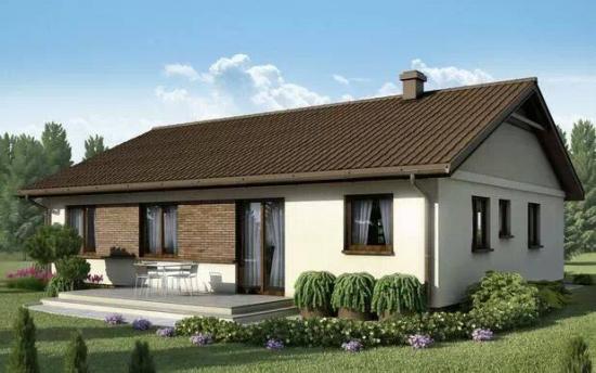 Casa doar cu parter cu fatada alba si acoperis maro inchis for Design exterior fatade case