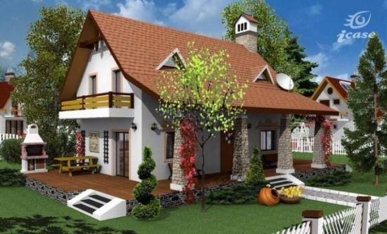 Casa in stil rustic cu terasa in aer liber