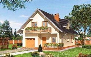 Model de casa cu garaj la parter