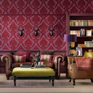 Living stil victorian nou cu fotolii si canapea din piele maro
