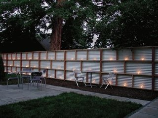 Gard din aluminiu si lemn